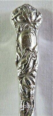 10 Antq Alvin Bridal Rose Sterling Silver Regular Knives Excellent Condition