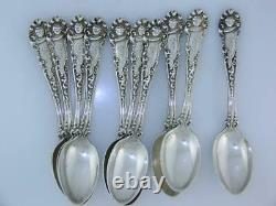 10 Sterling ALVIN Demitasse Spoons EDWARD VII 1899 knight head