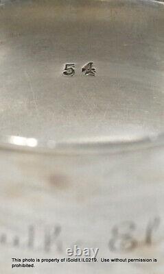 13-PC STERLING SILVER SPOONS Monogrammed Bigelow Kennard & NAPKIN RING 8.4-oz