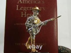 14k Sterling Silver Charles Alvin York Legendary Hero's Franklin Mint Statue BOX