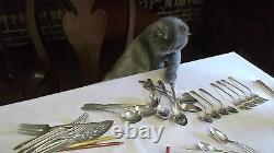 53 pc. Set, Svc for 12 & 5 Serving Pieces Alvin Sterling Silver Della Robbia