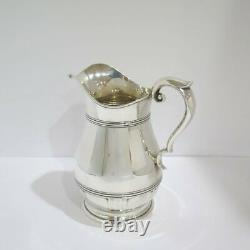 9 in Sterling Silver Alvin Antique Art Deco Water Pitcher