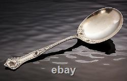 ALVIN Morning Glory Sterling Silver Salad Serving Spoon 75 grams solid