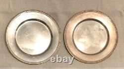 ALVIN Sterling Silver Coasters Pair 6 D Vintage