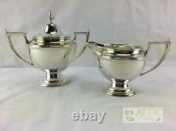 Alvin Antique Sterling Silver Coffee / Tea Set 2 Pieces 493.6 Grams