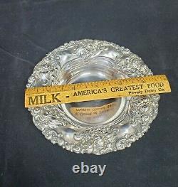 Alvin Art Nouveau Repousse STERLING 925 Silver Bowl Nut Dish Bon #464 Tiny Dent