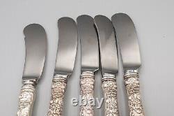 Alvin Bridal Bouquet Sterling Silver Butter Spreader Knives 6 Set of 5