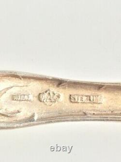 Alvin'' Bridal Rose'' 925 Sterling Silver Serving Spoon With Pierced Bowl. 1903