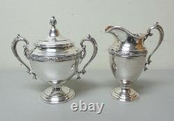 Alvin CHASED ROMANTIQUE Sterling Silver 5-Piece Coffee / Tea Set, 2425 grams