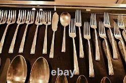 Alvin Chapel Bells 925 Sterling Silver 49 Piece Flatware Set