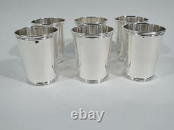 Alvin Mint Juleps S251 Set 6 Barware Julep Cups American Sterling Silver