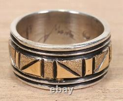 Alvin Monte NEW 14K Gold and Sterling Silver Sz 6.5 Ring X306A