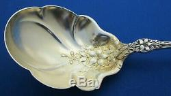 Alvin Sterling Old Orange Blossom Berry Spoon (flowers in bowl) C 1905 NR