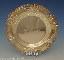 Alvin Sterling Silver Bread & Butter Plate Art Nouveau Daffodil (#0267)