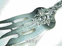 Alvin Sterling Silver Bridal Rose Large Cold Meat Fork 9 1/8 No Mono No Remval