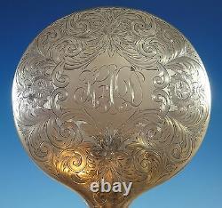 Alvin Sterling Silver Dresser Set 5pc Fancy Engraved (#1381)