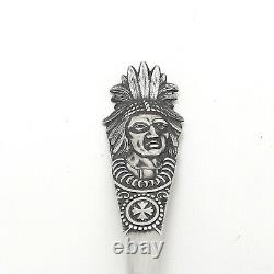 Alvin Sterling Silver Paradise Bay Lake George NY Souvenir Spoon Native American