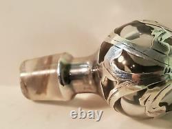 Alvin Sterling Silver overlay perfume bottle. 999/1000
