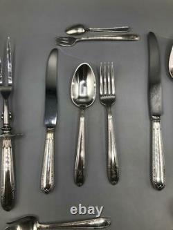 Antikes Besteckset Alvin 1931, für 12 Personen, Sterling Silver
