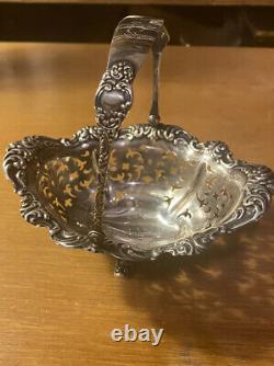 Antique 1886-1924 Alvin Sterling Silver Pierced Basket