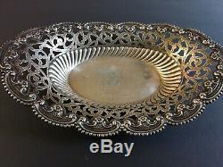 Antique Alvin Old Candy Sweet Bowl Sterling Silver Floral Filigree