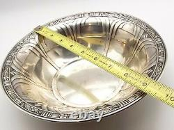 Antique Alvin Sterling Silver 9 Bowl D1525 Art Deco Serving Fruit Vtg Geometric