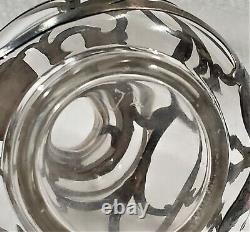 Antique Art Nouveau Alvin Fine Sterling Silver Overlay Perfume Bottle 999/1000