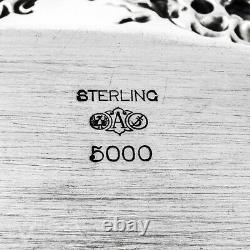 Art Nouveau Repousse Pin Tray Alvin Sterling Silver Mono