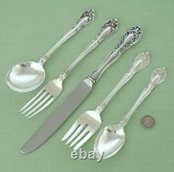 Beautiful ALVIN Sterling Silver CHATEAU ROSE 47 Piece Set with Serving 8 place set