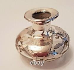Beautiful Antique Alvin or Gorham Scent with Sterling Silver Overlay