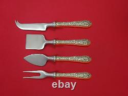 Bridal Bouquet by Alvin Sterling Silver Cheese Serving Set 4 Piece HHWS Custom