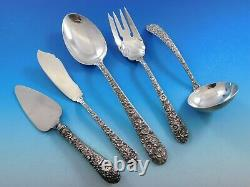 Bridal Bouquet by Alvin Sterling Silver Essential Serving Set Large Hostess 5-pc