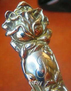 Bridal Rose By Alvin Beautiful Bridal Rose Sterling Silver 7 1/2 Serving Fork