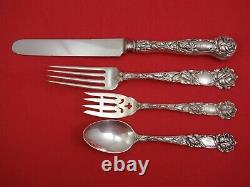 Bridal Rose by Alvin Sterling Silver Dinner Size Place Setting(s) 4pc