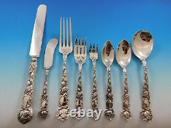 Bridal Rose by Alvin Sterling Silver Flatware Set Service 98 Pieces Dinner Size