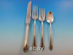 Chased Romantique by Alvin Sterling Silver Flatware Set for 8 Service 55 pcs