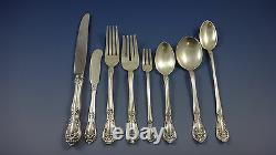 Chateau Rose by Alvin Sterling Silver Flatware Set For 12 Service 104 Pieces