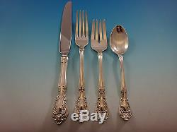 Chateau Rose by Alvin Sterling Silver Flatware Set For 8 Service 38 Pieces
