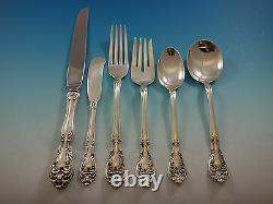 Chateau Rose by Alvin Sterling Silver Flatware Set For 8 Service 48 Pieces