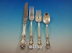 Chateau Rose by Alvin Sterling Silver Flatware Set for 12 Service 48 pieces