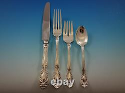 Chateau Rose by Alvin Sterling Silver Flatware Set for 8 Service 64 pcs Dinner