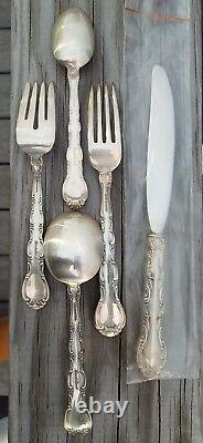 Estate Sterling Silver Alvin French Scroll 5-piece Place Setting 1953 Free Ship
