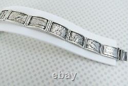 Flight from Eygpt sterling silver christian story teller bracelet Alvin Swayne