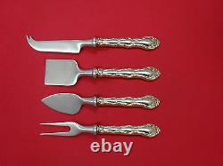 French Scroll by Alvin Sterling Silver Cheese Serving Set 4 Piece HHWS Custom