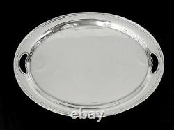 Large Handled Waiter Tray Modern Colonial Pattern Sterling by ALVIN 22 1/4