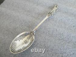 Lot(3) Sterling Silver Indian & Statue Liberty Spoons Alvin/lunt/wallace