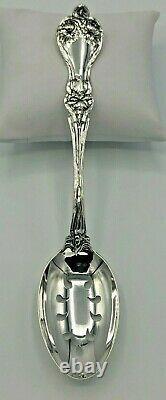 Majestic by Alvin Sterling Silver Pierced Table Serving Spoon 8.25