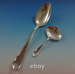 Maryland Hand Hammered by Alvin Sterling Silver Flatware Set Service 47 Pieces