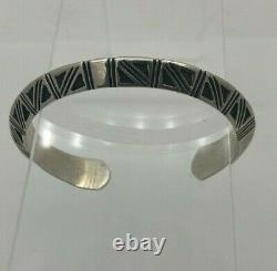 Modern Native American Alvin Todacheene Navajo Sterling Silver Bracelet