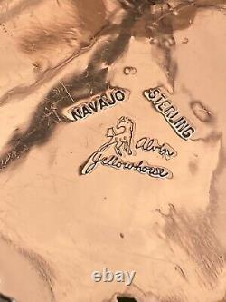 Native American, Alvin Yellowhorse, Sterling Silver, Multi Stone Inlay Pendant